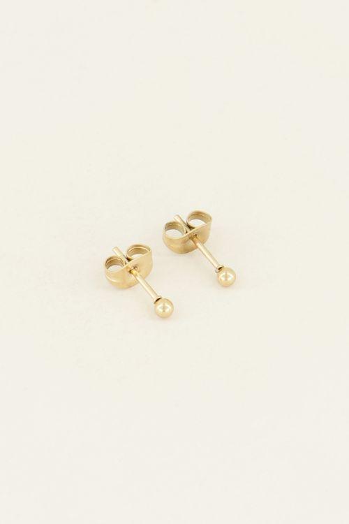 Minimalistische stud bolletje   Oorknopjes basic My Jewellery