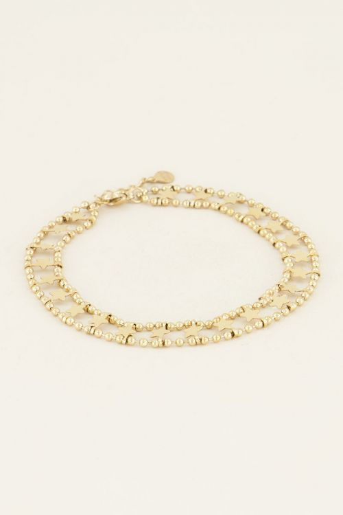 Anklet with double medallions & stars | My Jewellery