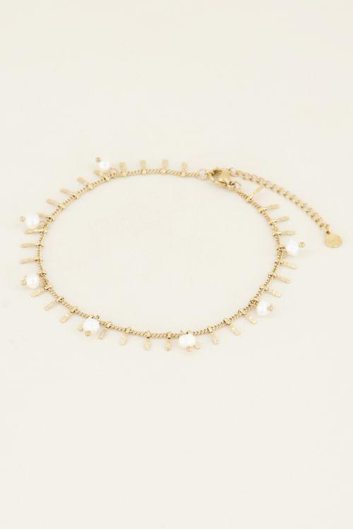 Enkelbandje staafjes & parels | My Jewellery