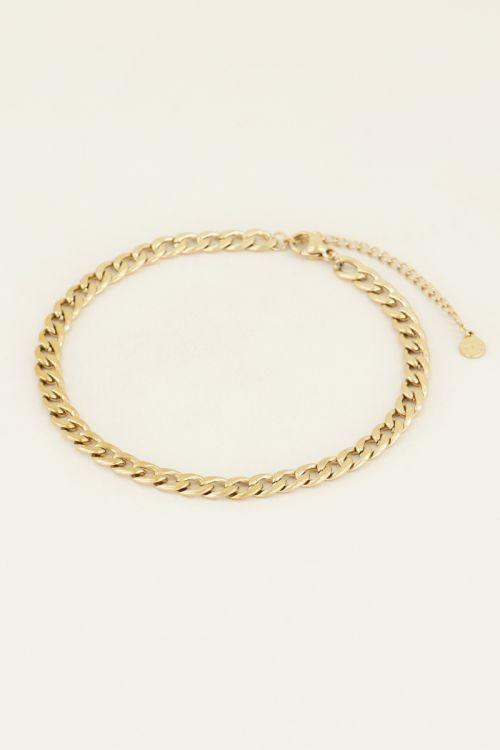 Enkelbandje schakels   Gouden enkelbandje   My Jewellery