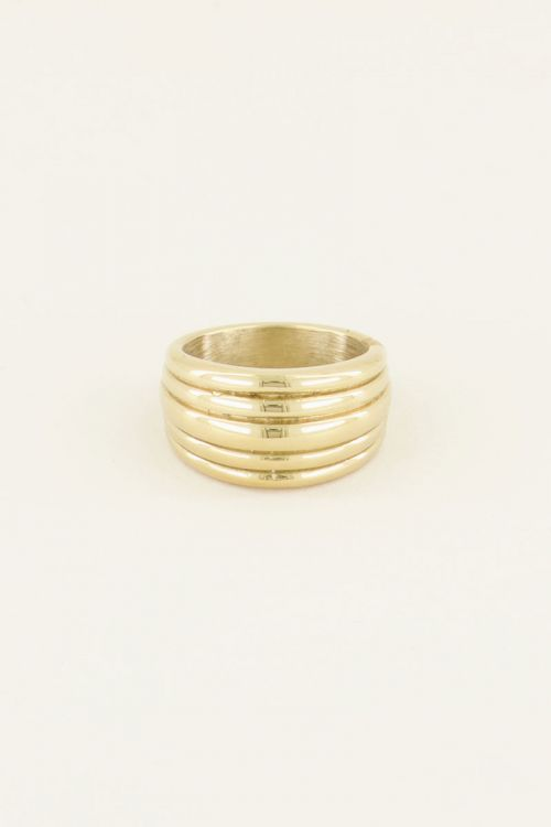 Ring met laagjes | Roestvrijstalen ring  my jewellery