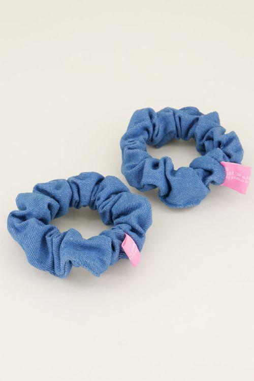 Denim scrunchie set | Haaraccessoires My jewellery