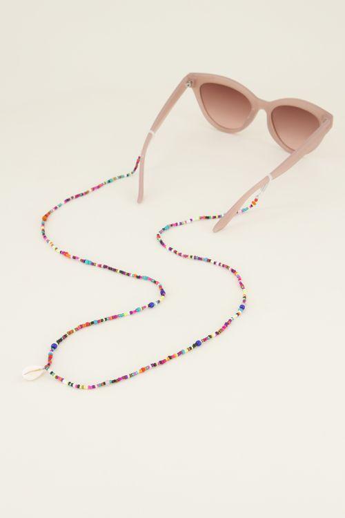 Brillenkoordje kralen & schelp My Jewellery