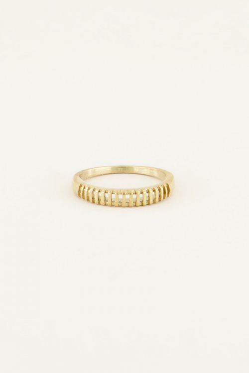 Ring met ribbeltjes | My Jewellery