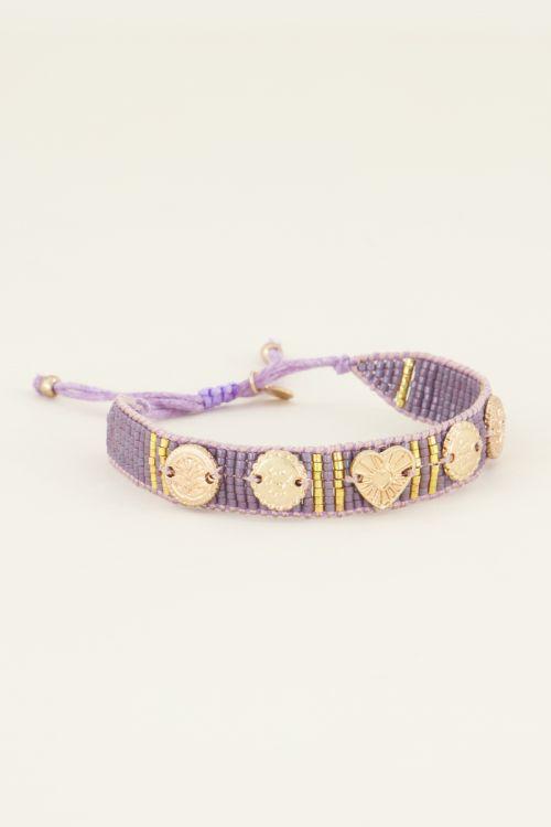 Lila armband bedels & kraaltjes | My Jewellery