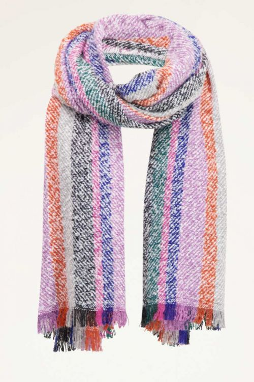 Multikleur sjaal met strepen | Sjaals | My Jewellery