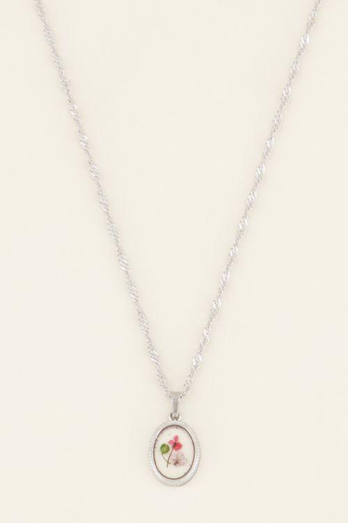 Ketting wildflower ovaal | My Jewellery