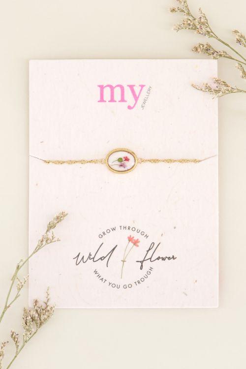 Wildflower oval bracelet   My Jewellery