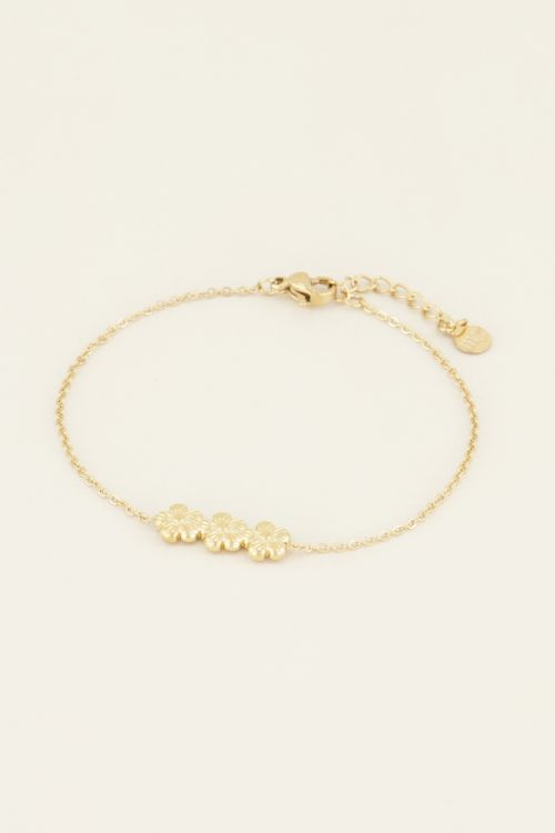 Armband drie bloemetjes | Armbanden | My Jewellery