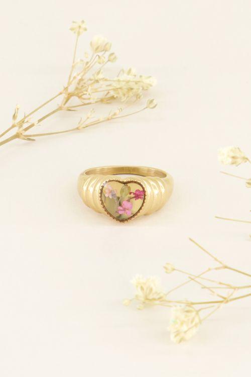 Wildflower heart ring | Rings | My Jewellery