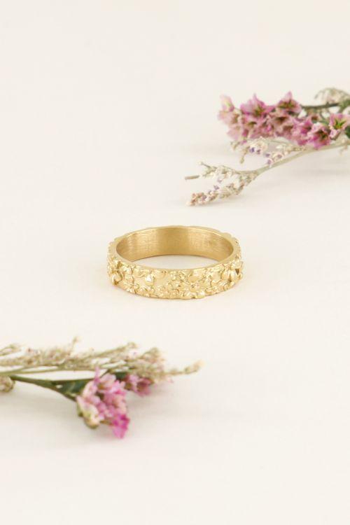 Ring brede bloemetjes | Ringen | My Jewellery