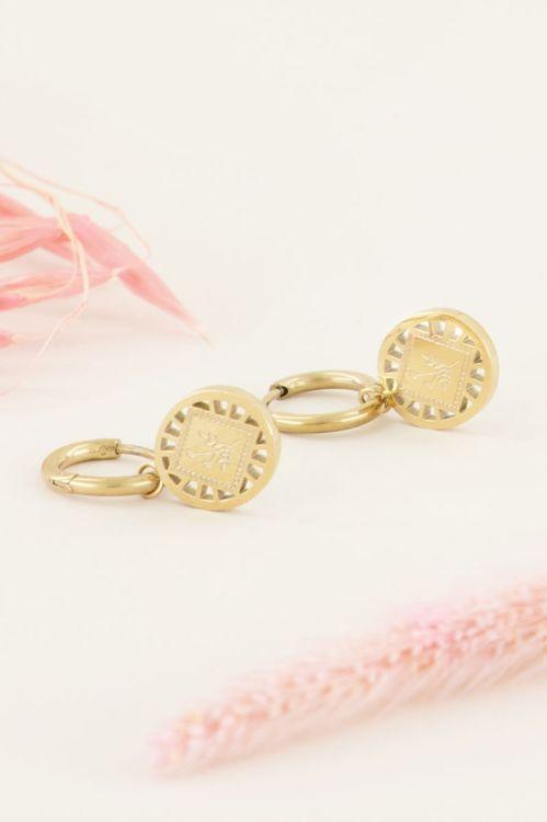 Oorringen daisy ovaal | Oorringen | My Jewellery