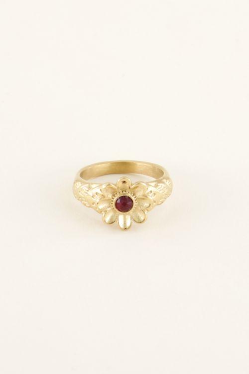 Ring bloem & steentje | Ringen | My Jewellery