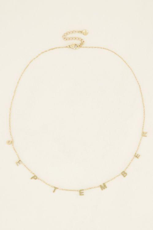 Geboortemaand ketting | My Jewellery