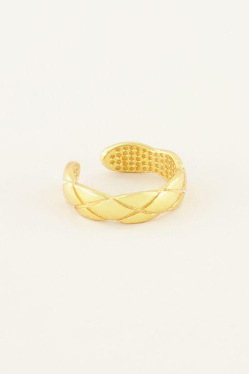 Ear cuff smal structuur | My Jewellery