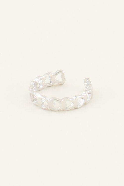 Ear cuff open hartjes | My Jewellery
