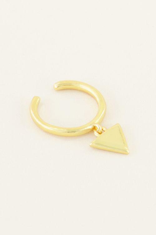 Ear cuff hangend driehoekje | My Jewellery