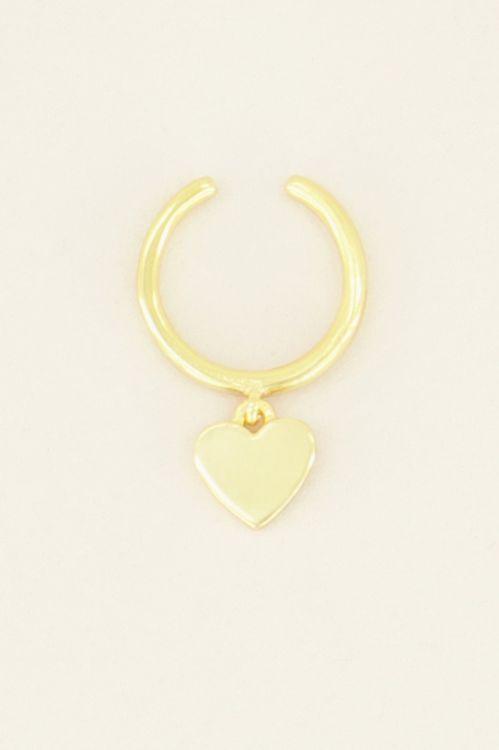 Ear cuff hangend hartje | My Jewellery