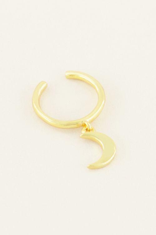 Ear cuff hangend maantje | My Jewellery