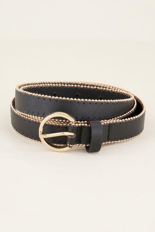 Zwarte riem met studs | My Jewellery