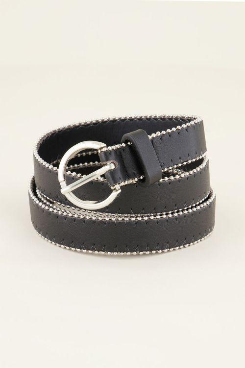 Zwarte riem met studs   My Jewellery