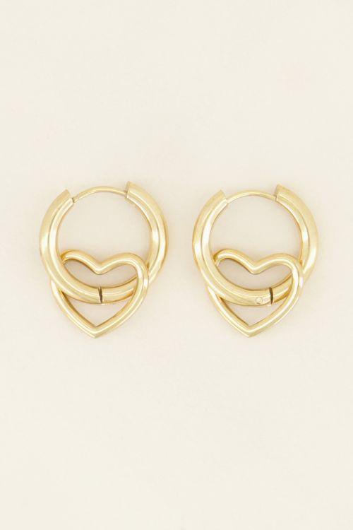 Oorringen met open hartje | My Jewellery