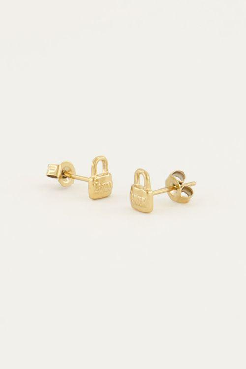 Studs love lock | Gratis verzending | My Jewellery