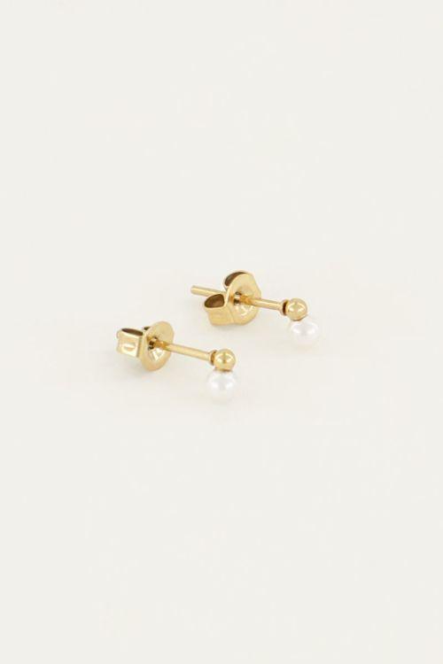 Studs parel   Trendy oorbellen   My Jewellery