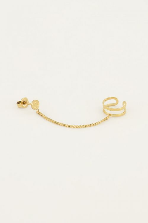 Stud smiley met ear cuff | My Jewellery