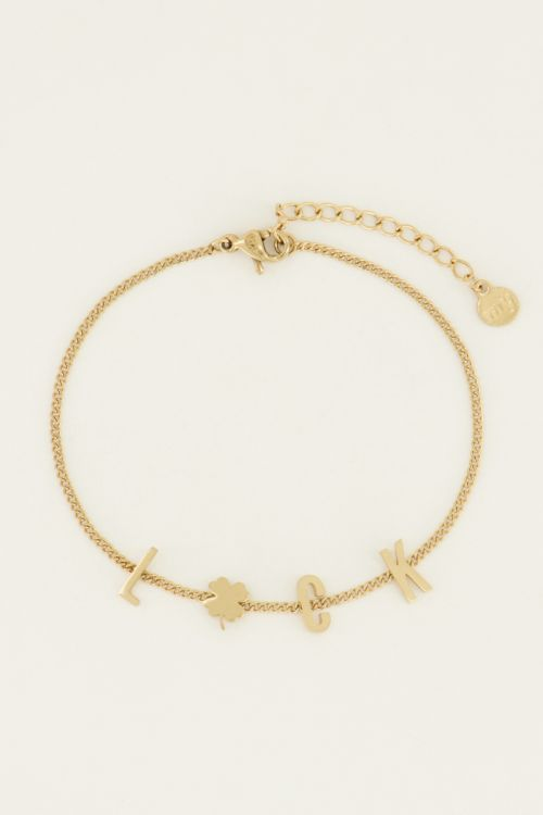 Armband luck letters   My Jewellery