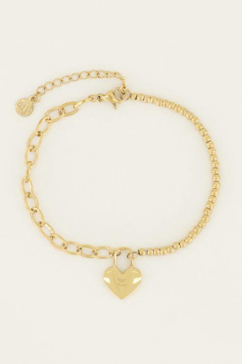 Armband met hart slotje | My Jewellery