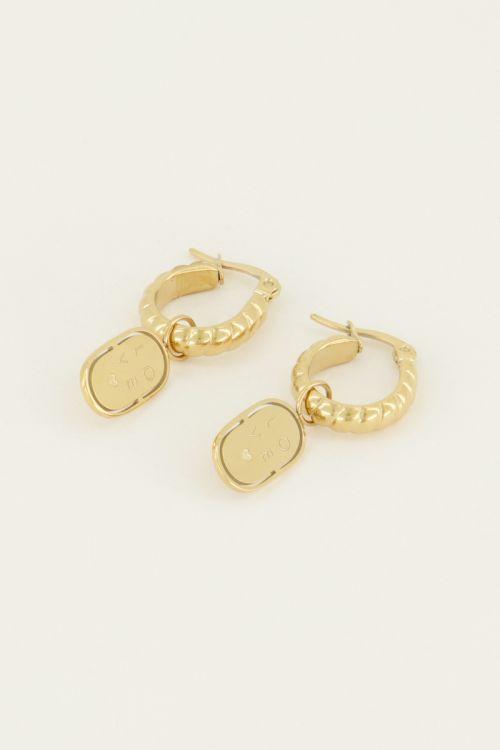 Oorringen munt love | My Jewellery