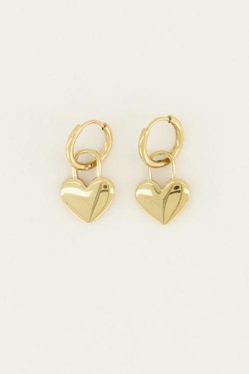 Oorringen hartjes slot | My Jewellery