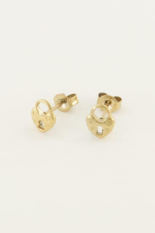 Studs hartjes slot | My Jewellery