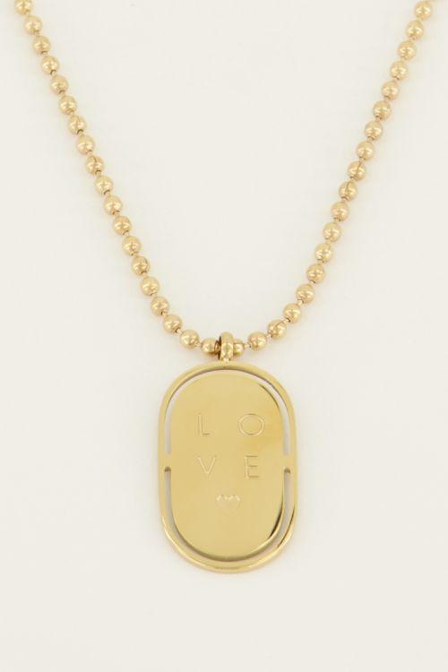 Ketting love plaatje | My Jewellery