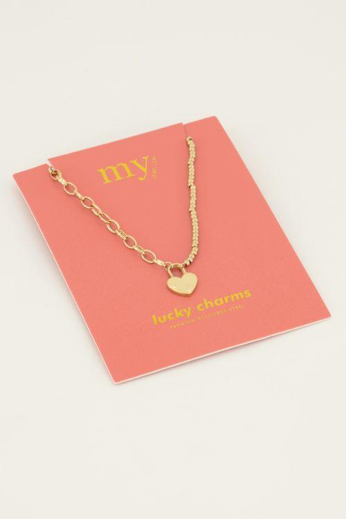 Ketting hartjes slot | My Jewellery
