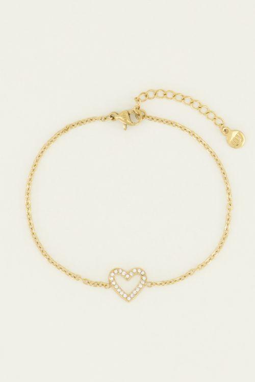 Armband open hart steentjes | My Jewellery