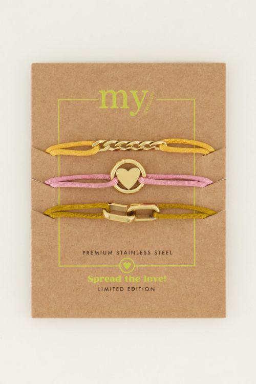 Spread the love set yellow | My Jewellery
