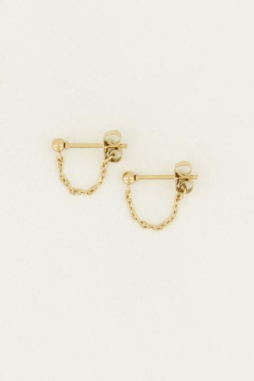 Oorbellen ketting bolletje | My Jewellery