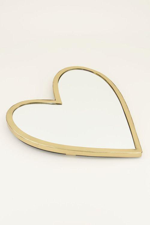 Gouden spiegel   Spiegel hart   My Jewellery