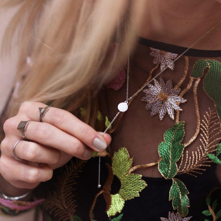 My Jewellery Ketting muntje steentje y vorm