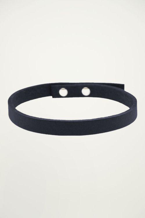 Armband leer heren blauw, armbanden