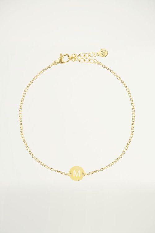 Armband met letter goud, Initial armband, Armbanden