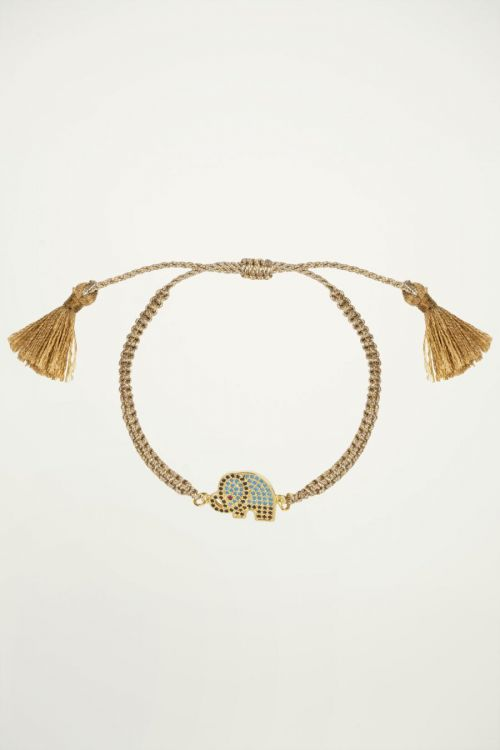 Armband olifant strass, strass steentjes