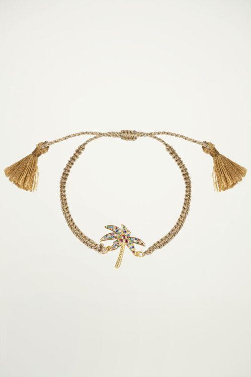 Armband palmboom strass, strass steentjes