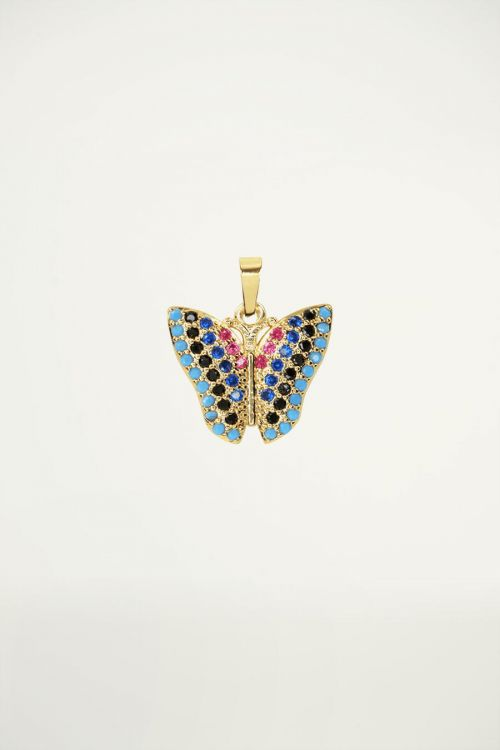 Bedel vlinder strass, vlinder bedel