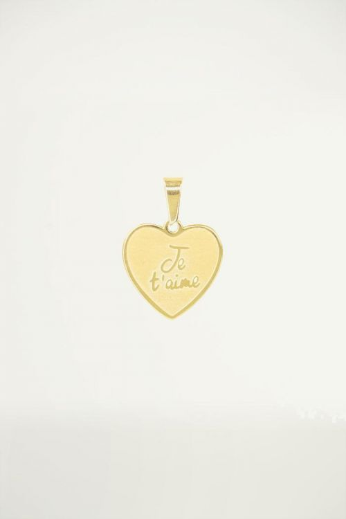 Heart shaped charm with quote, custom collection