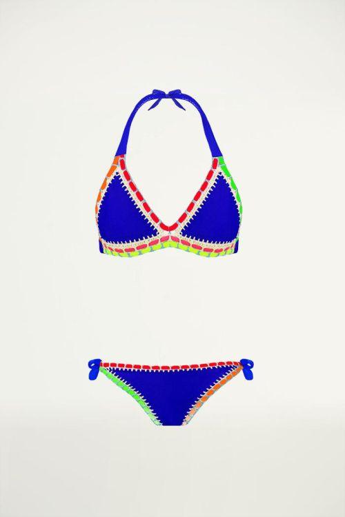 Bikini Ibiza Boho blauw, Triangel bikini