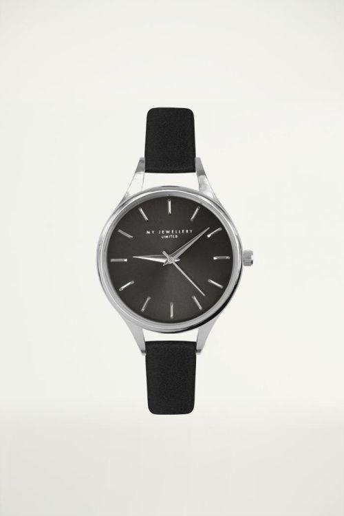 Dameshorloge Zwart, Analoog Horloge