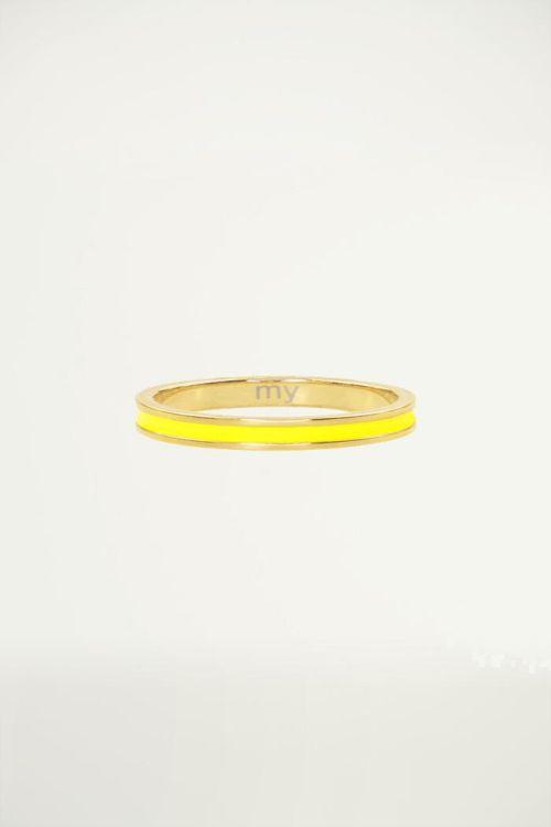 Geel & goud basic ring, damesring